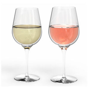 Double wall thermal wine glasses set of 2 20oz